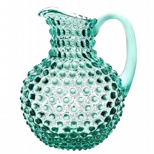 Hobnail Glass Jug - 2L - Beryl Green